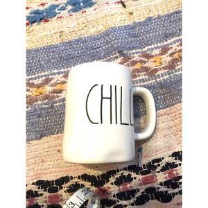 Rae Dunn CHILL Coffee Mug White